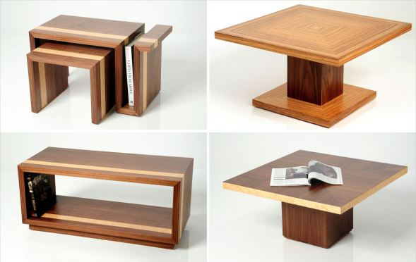 Freestanding Coffee Tables Collage