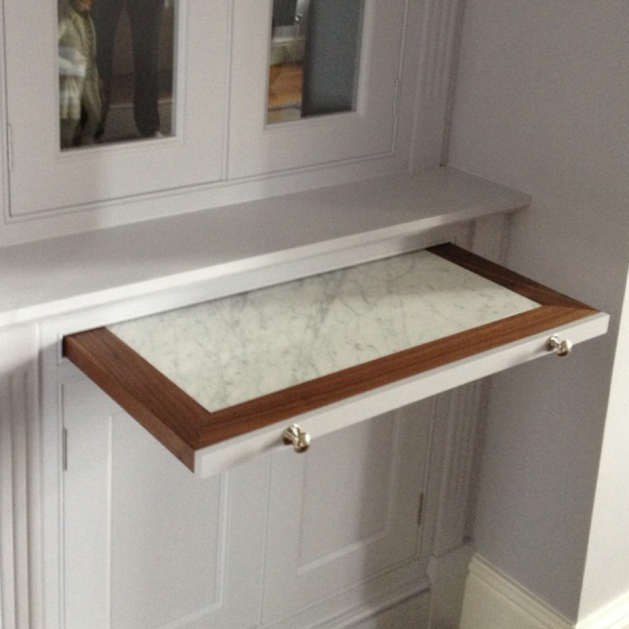 Marble Inset Pull Out Shelf