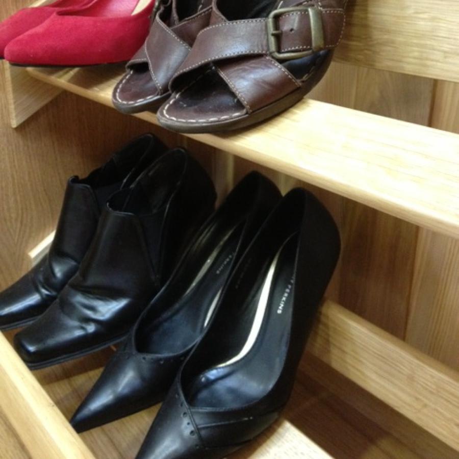 Solid Oak Shoe Rails