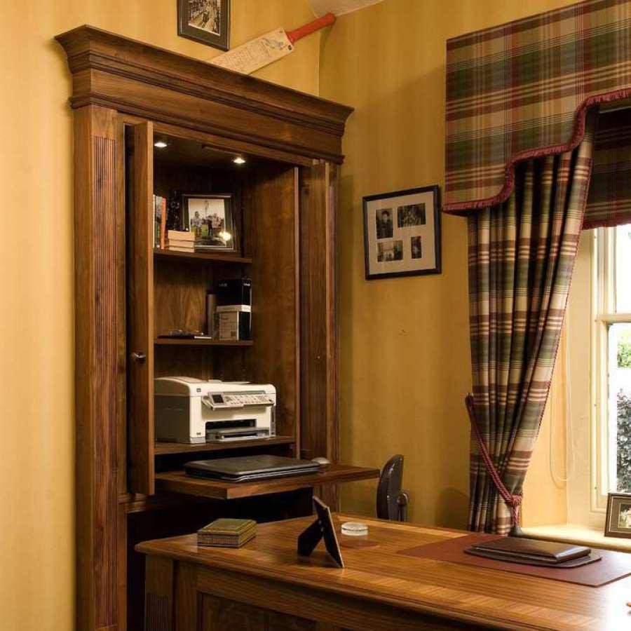 Polished Walnut Study - Gentleman's Study
