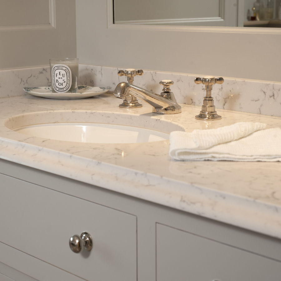 Lefroy Brooks Sanitary Ware - Carrara Marble Vanity Unit Top