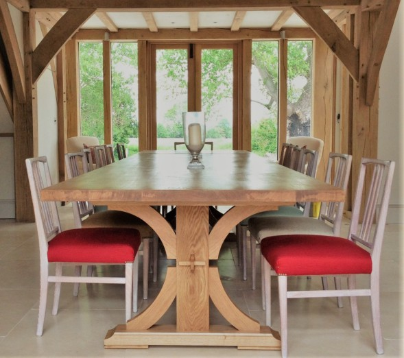 Drogo Refectory Table in Oak