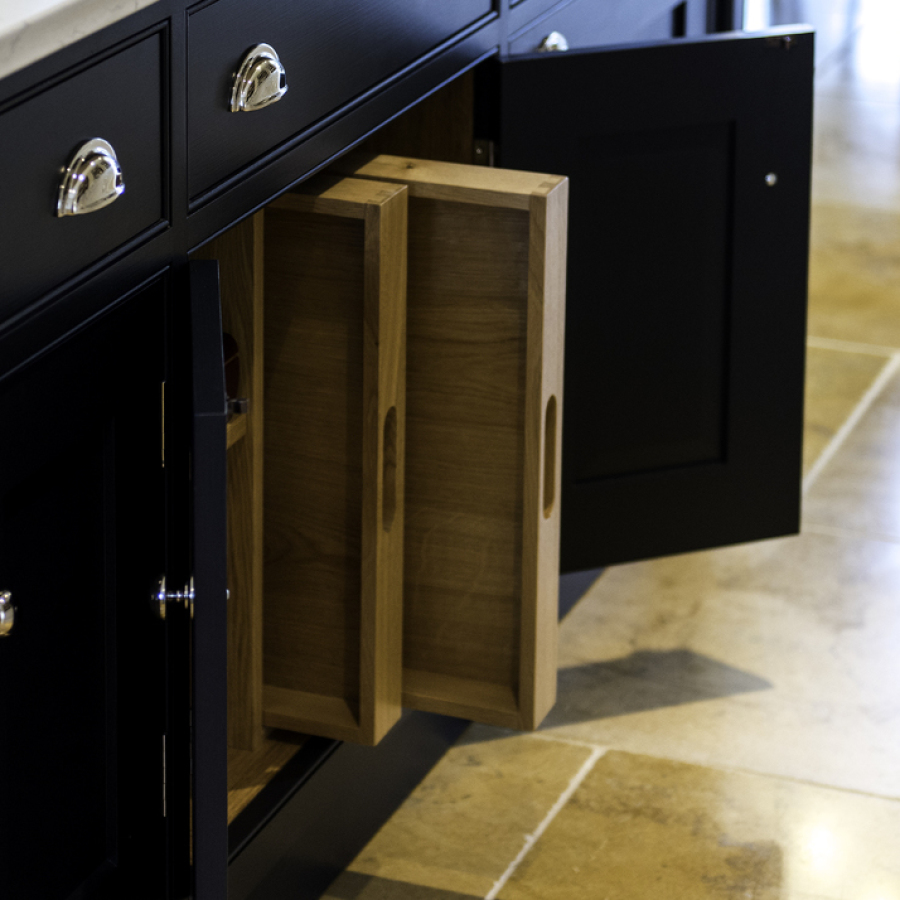 Hidden Solid Oak Dovetailed Pull Out Trays